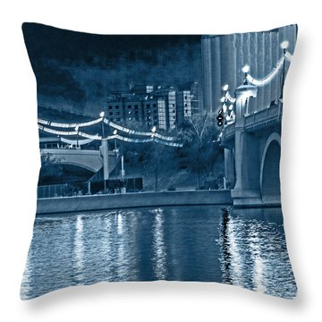 Blue Tempe Evening Throw Pillow