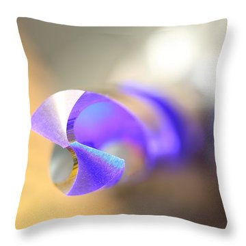 Blue Three Quarter Throw Pillow