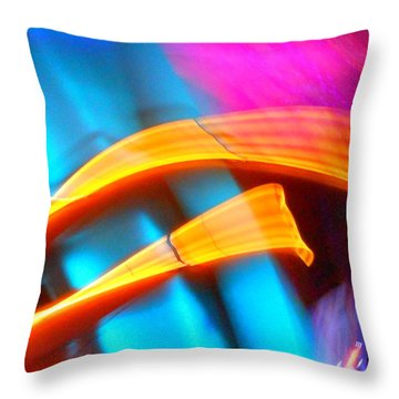 Blue Tonado On Venus Throw Pillow