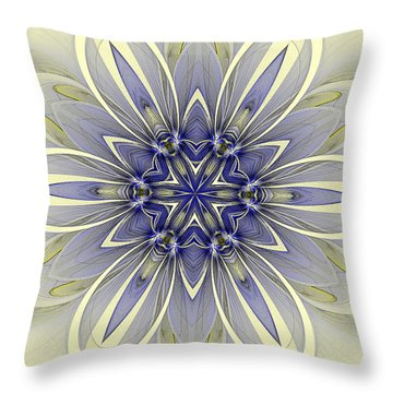 Blue Trance Throw Pillow