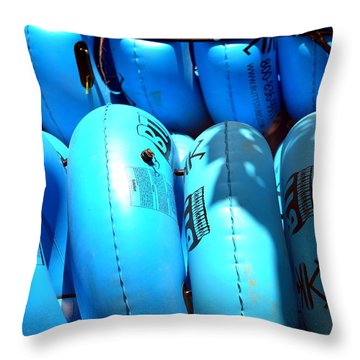 Blue Tube Throw Pillow
