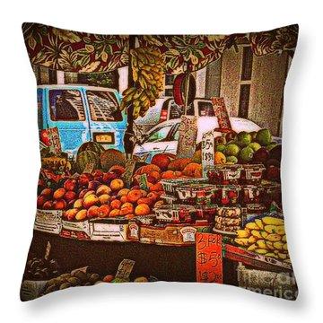 Blue Van Throw Pillow by Miriam Danar