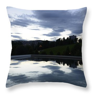 Blue Visions 1 Throw Pillow