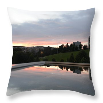Blue Visions 2 Throw Pillow
