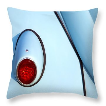 Blue Vw Bug Taillight Throw Pillow