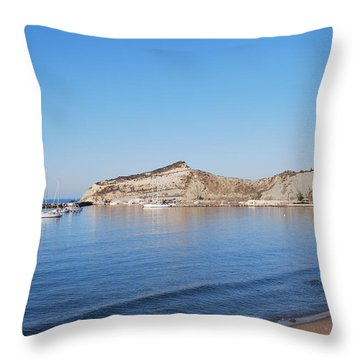 Throw Pillow featuring the photograph Blue Water by George Katechis