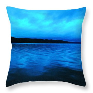 Blue Water In The Morn  Throw Pillow by Jeff Swan