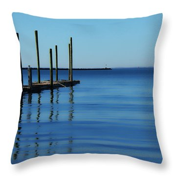 Blue Water Throw Pillow by Karol Livote