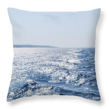 Throw Pillow featuring the photograph Blue Waters by George Katechis