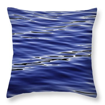 Blue Wave 2 Throw Pillow