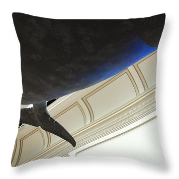 Blue Whale Experience Throw Pillow