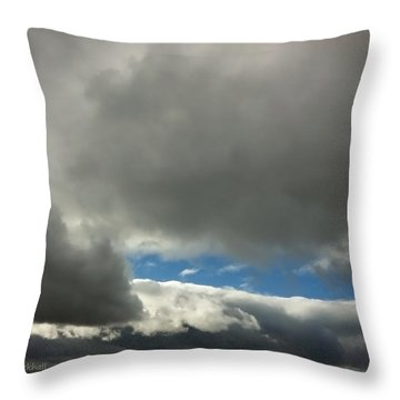 Blue Window Throw Pillow by Donna Blackhall