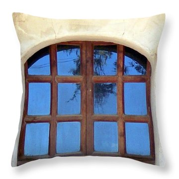 Blue Window San Miguel Throw Pillow