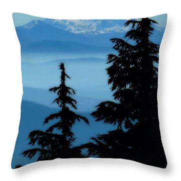 Blue Yonder Mountain Throw Pillow