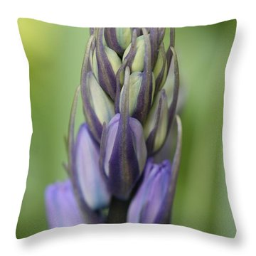 Bluebell Buds Throw Pillow by Mark Severn