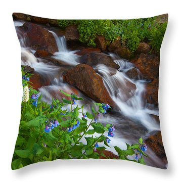 Bluebell Creek Throw Pillow