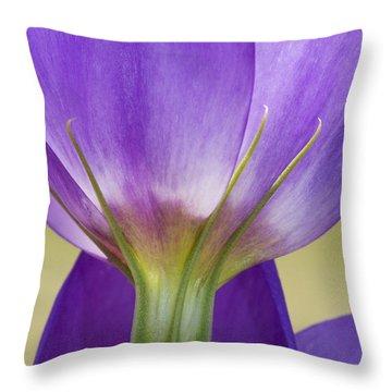 Bluebell Gentian Flower Throw Pillow