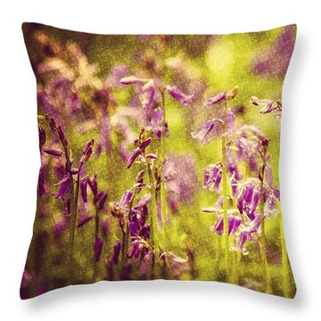 Bluebell In The Woods Throw Pillow