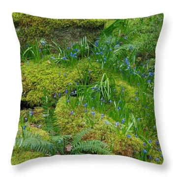 Throw Pillow featuring the photograph Bluebells  by Marilyn Wilson