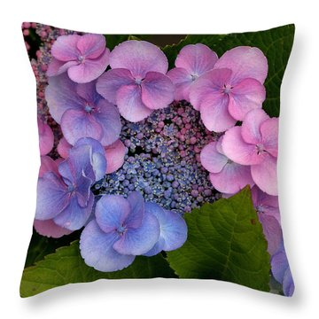Blueberries And Cream Throw Pillow