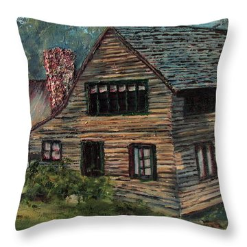 Blueberry Cottage At Twin Lake Village Throw Pillow