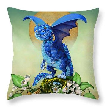 Blueberry Dragon Throw Pillow