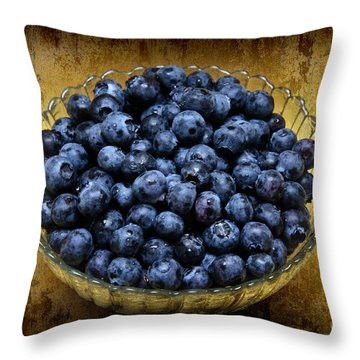 Blueberry Elegance Throw Pillow by Andee Design