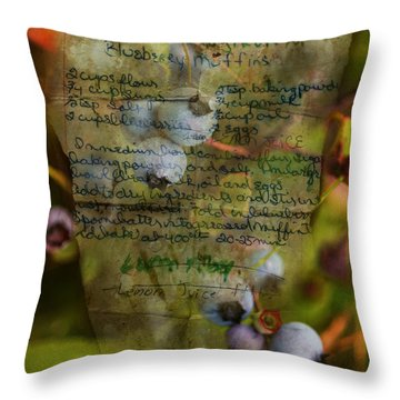 Blueberry Muffins Throw Pillow