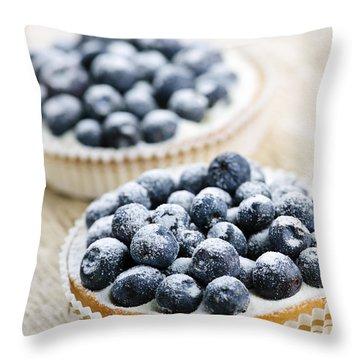 Blueberry Tarts Throw Pillow