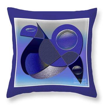 Bluebird Throw Pillow by Iris Gelbart
