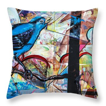 Bluebird Signs Throw Pillow