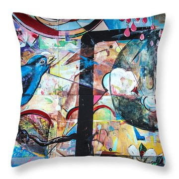 Bluebird Sings Throw Pillow