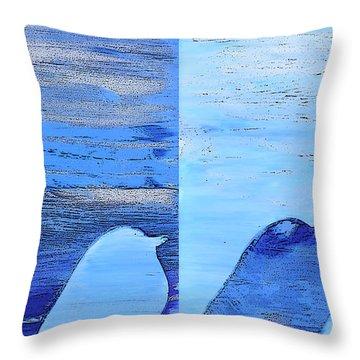 Bluebirds Throw Pillow