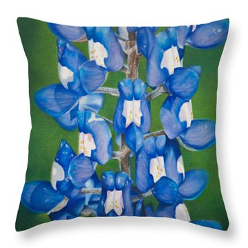 Bluebonnet Buffalo Clover Throw Pillow