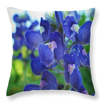 Bluebonnet Charmer Throw Pillow