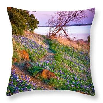 Bluebonnet Trail Throw Pillow