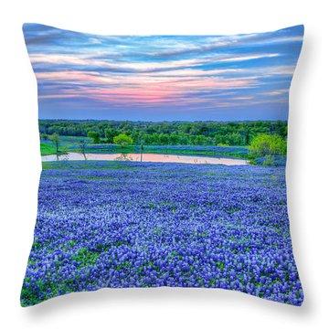 Bluebonnets Forever Throw Pillow