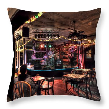 Bluegrass Band In Wv Throw Pillow by Dan Friend
