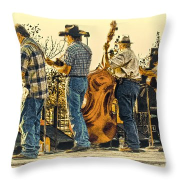 Bluegrass Evening Throw Pillow by Robert Frederick