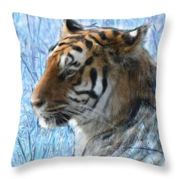 Bluegrass Tiger Throw Pillow