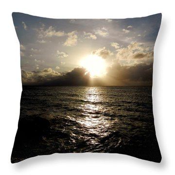 Throw Pillow featuring the photograph Blues @ Evening by Amar Sheow