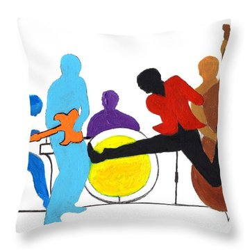 Blues Concept 2 Throw Pillow