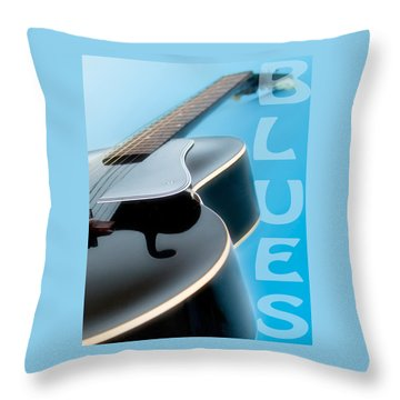 Blues Guitar Throw Pillow by David and Carol Kelly