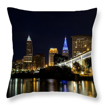 Blues In Cleveland Ohio Throw Pillow
