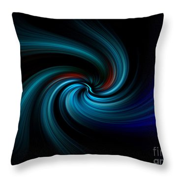Throw Pillow featuring the digital art Blues Swirl by Trena Mara