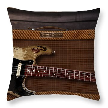 Blues Tools Throw Pillow