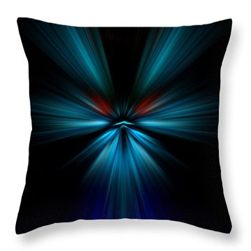 Throw Pillow featuring the digital art Blues by Trena Mara