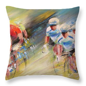 Blues United Throw Pillow