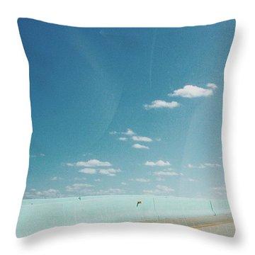 #blueskies Throw Pillow