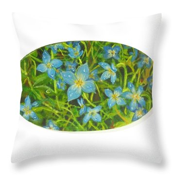Bluets Of The Shenandoah  Throw Pillow